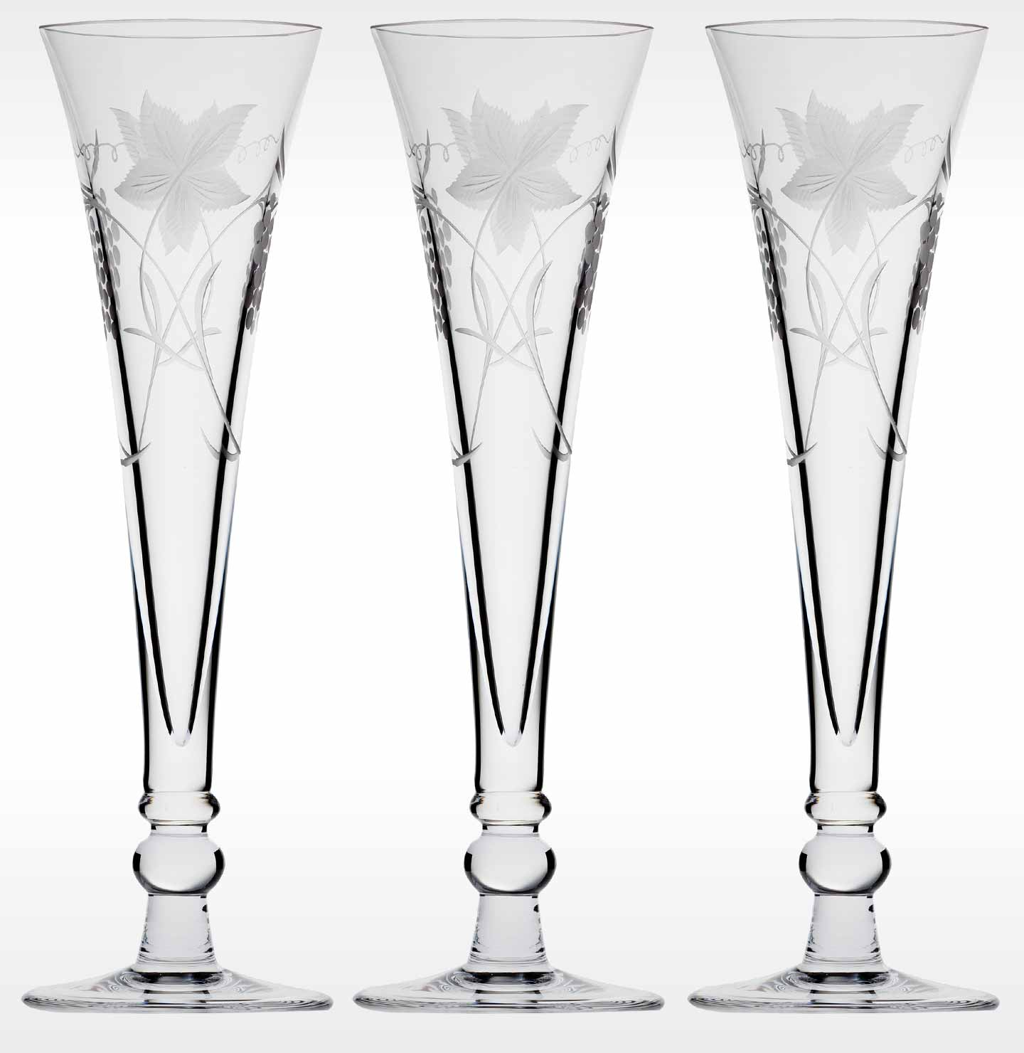 Fine Crystal Champagne Glasses