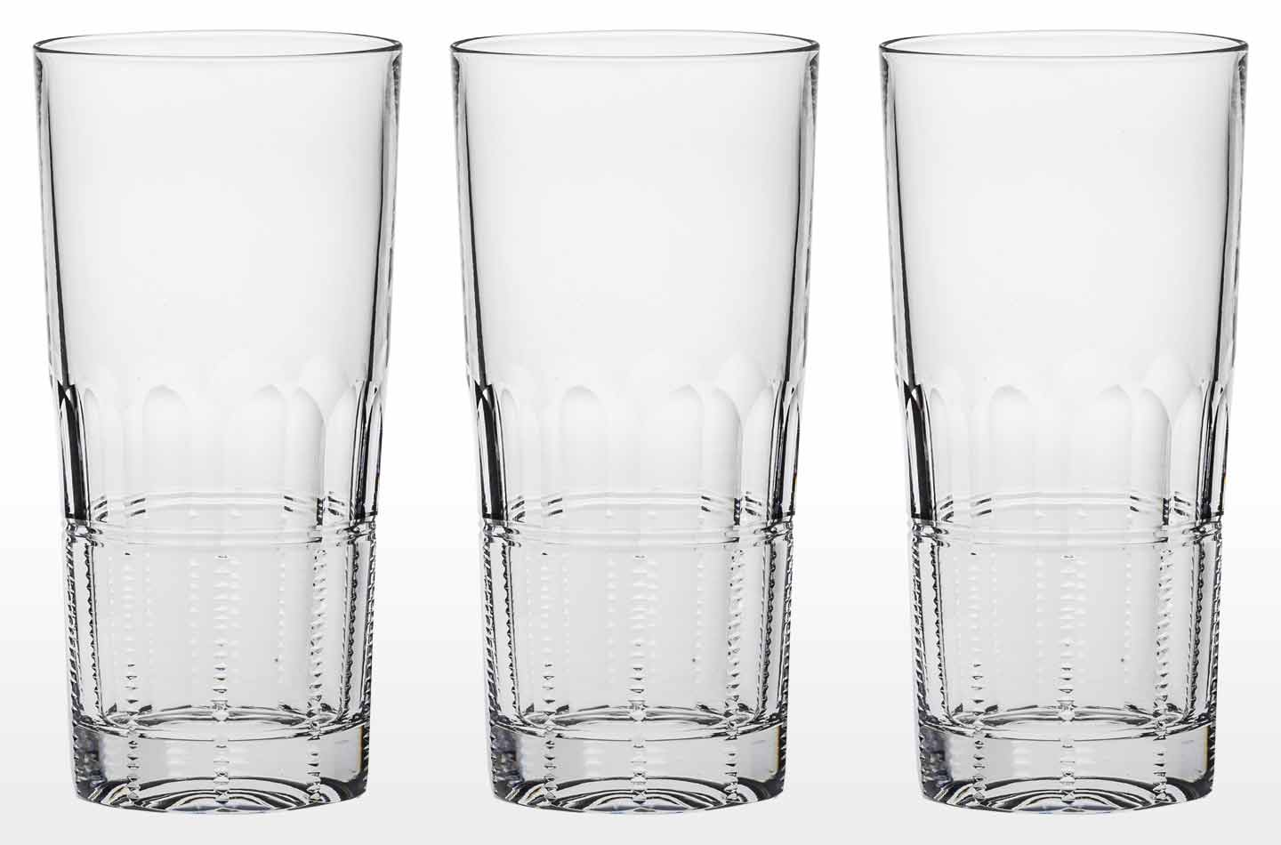 Fine Crystal Tall Tumblers and Highballs