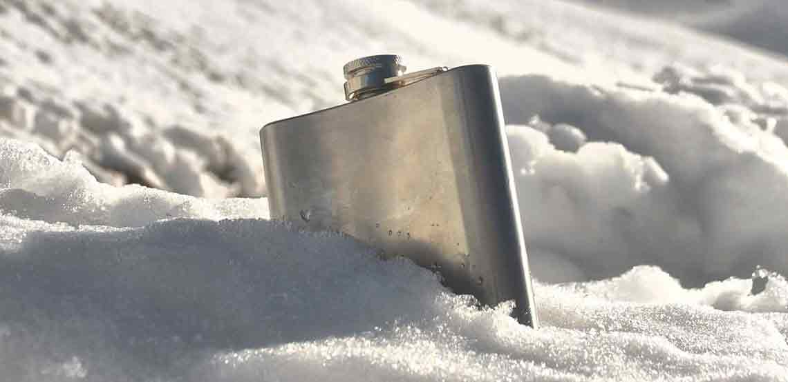 Sterling Silver & Fine English Pewter Hip Flasks