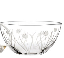 Royal Scot Crystal Wild Tulip Fruit or Salad Bowl