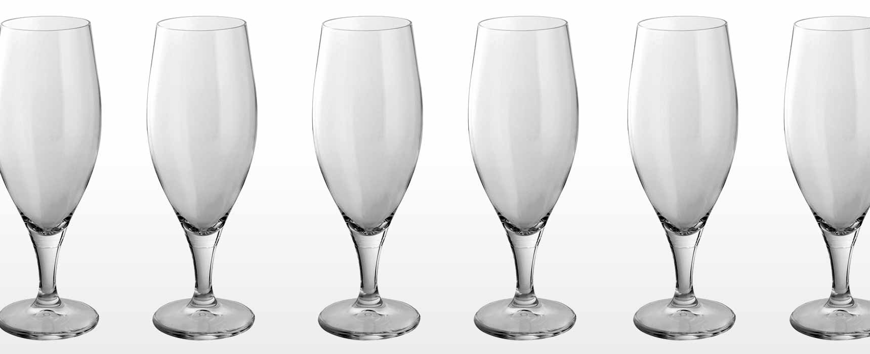 Fine Crystal and glass beer, ale and pilsner glasses