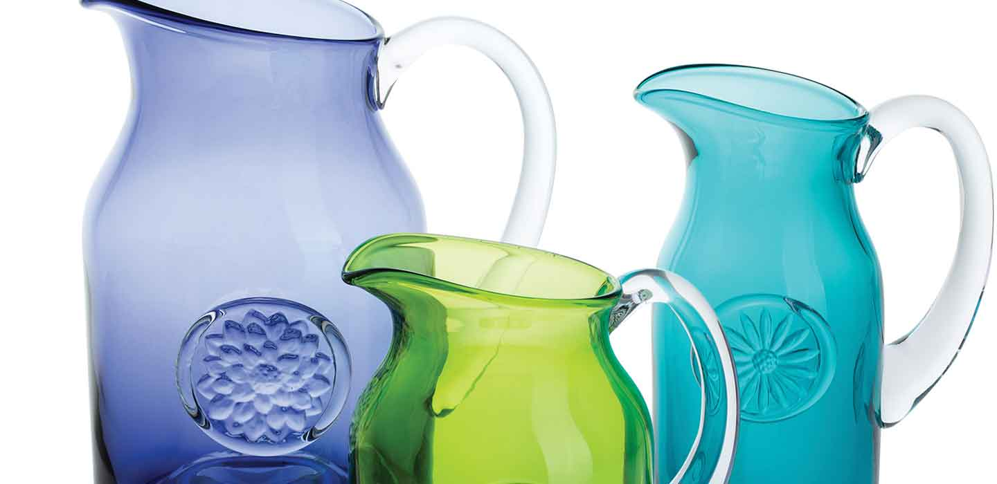 Jugs & Pitchers in Sterling Silver, Pewter or Crystal
