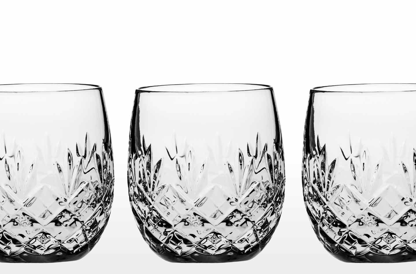 Fine Crystal Whisky Glasses and Double Old Fashioned