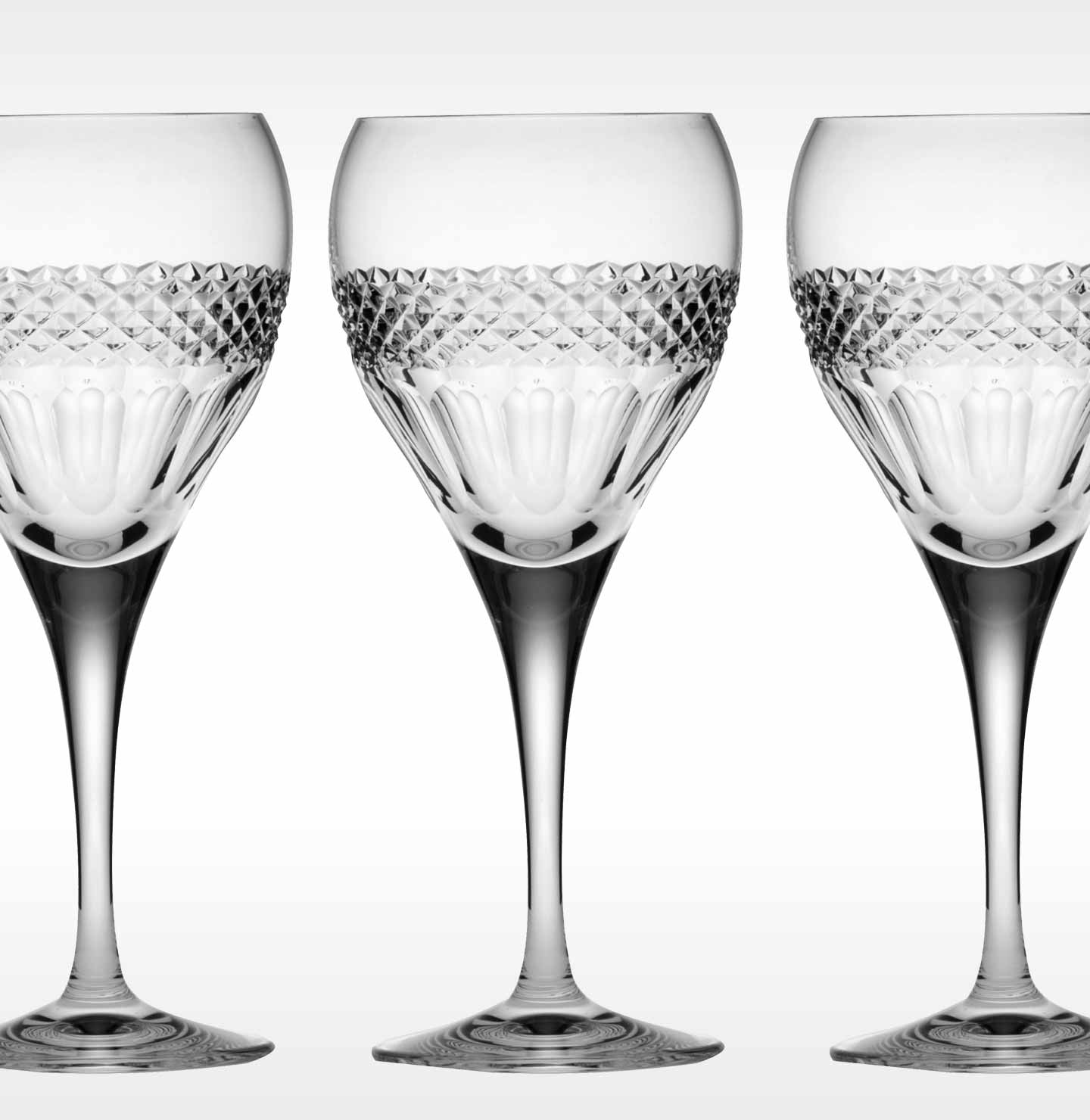 Fine Crystal White Wine Glasses