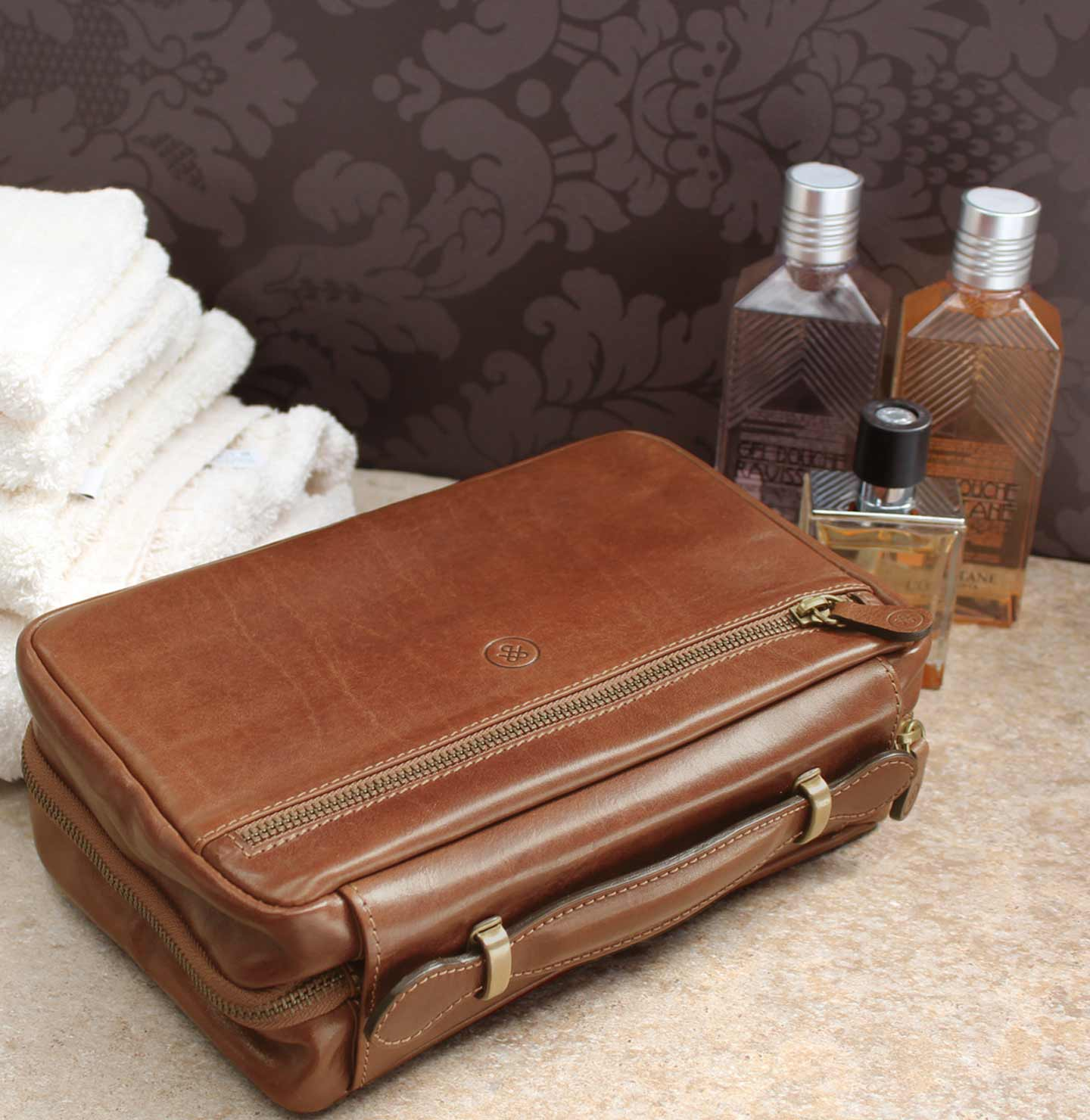Leather Wash Bags
